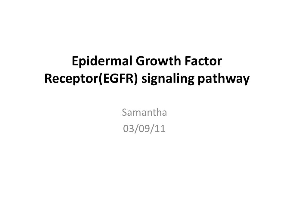 A new role of Egfr in cancer Engelman etal. 2008