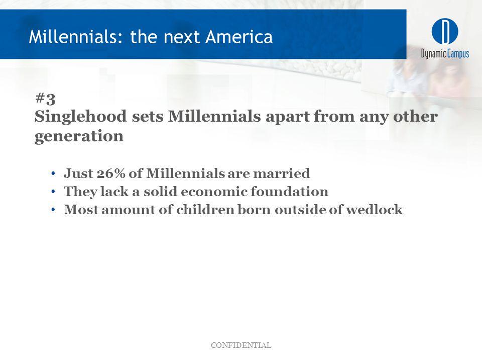 CONFIDENTIAL Millennials: the next America
