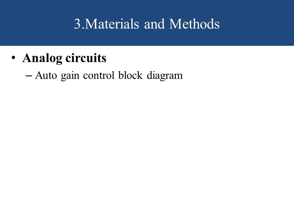 Analog circuits – Auto gain control block diagram 3.Materials and Methods