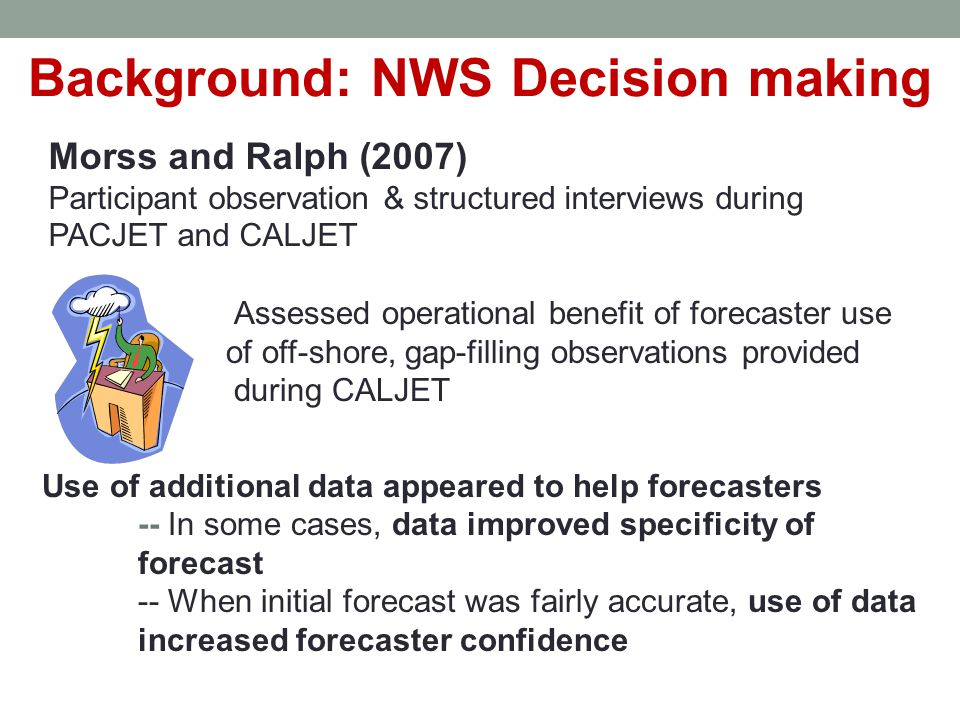 Forecasters' Conceptual Model During Case 43-s Team4.5-minTeam Weaker Couplet Strength 66%83% Trend in Circulation Strength 100% Update Time Detrimental 0%100% Environment 66% Reflectivity Notch 100%