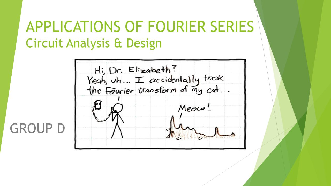 APPLICATIONS OF FOURIER SERIES Circuit Analysis & Design GROUP D