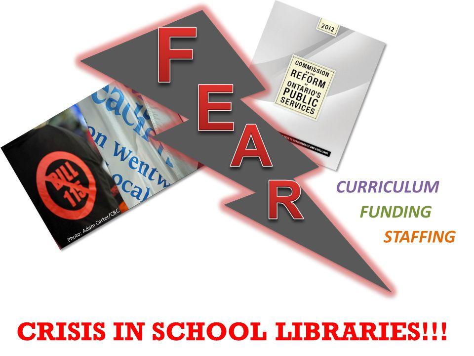 Photo: Adam Carter/CBC FUNDING STAFFING CURRICULUM CRISIS IN SCHOOL LIBRARIES!!!