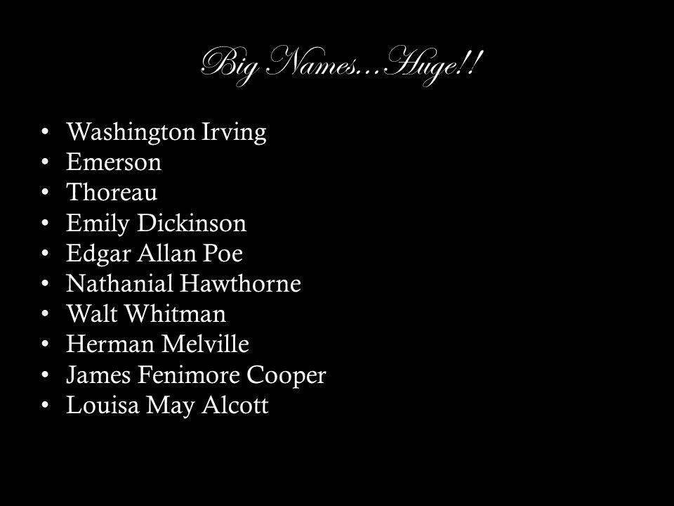 Big Names...Huge!.