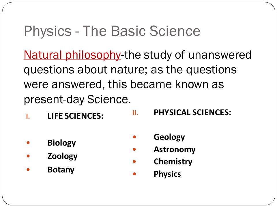 "Unit 1: ""About Science"" Introduction to PHYSICS"