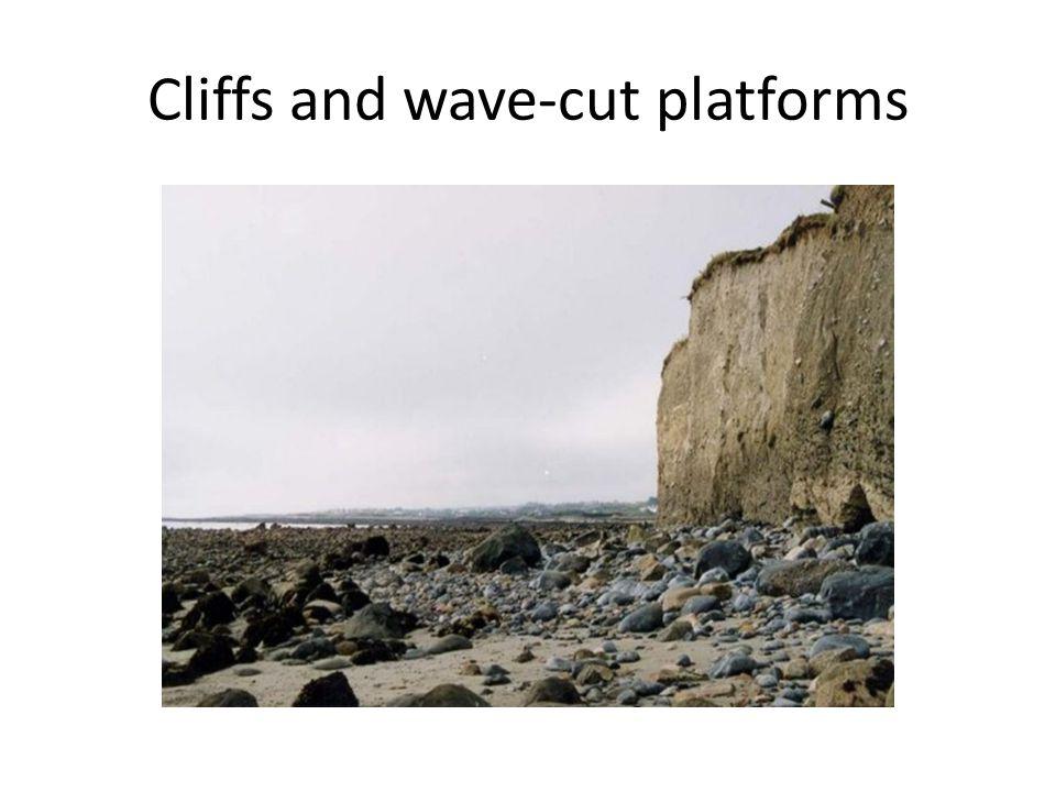 Cliffs and wave-cut platforms