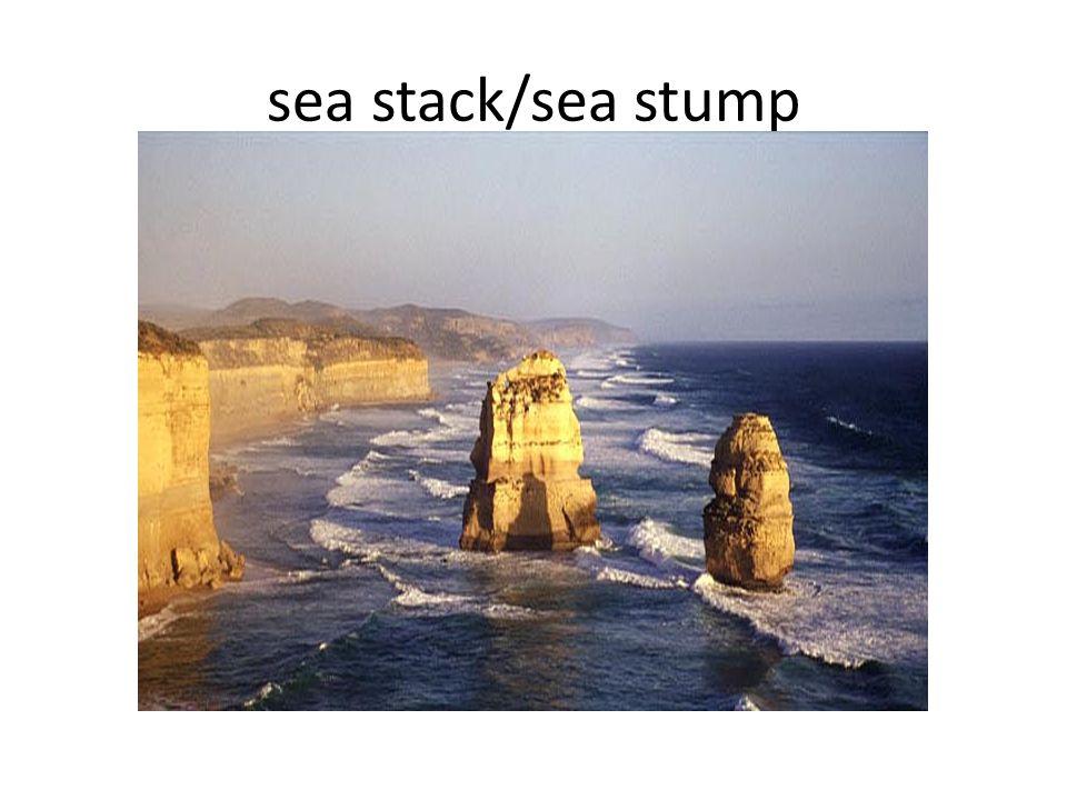 sea stack/sea stump