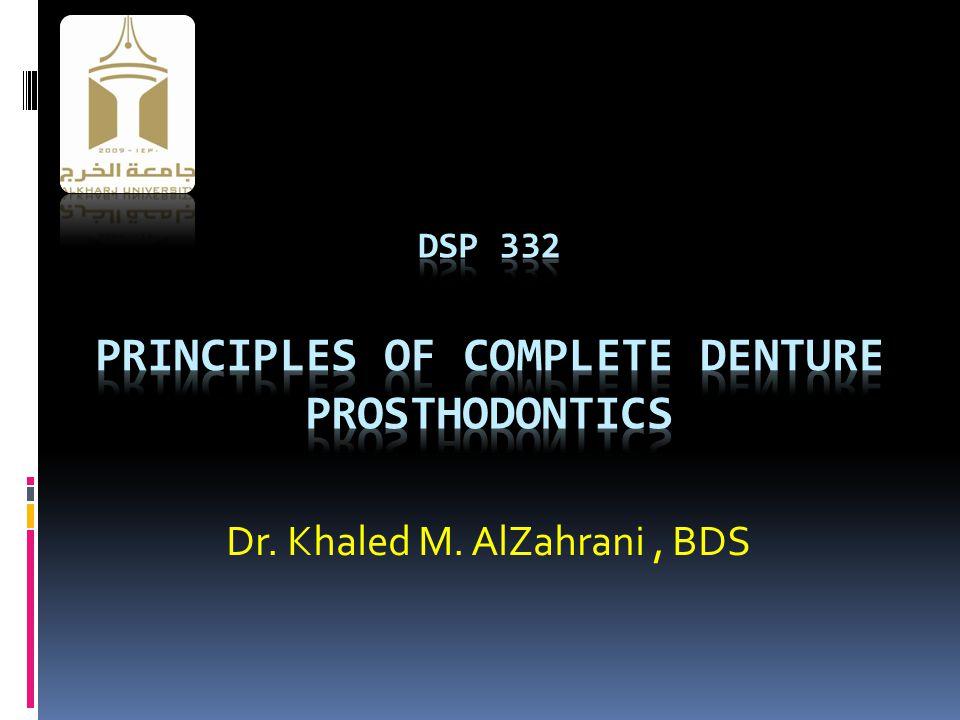 Dr. Khaled M. AlZahrani, BDS