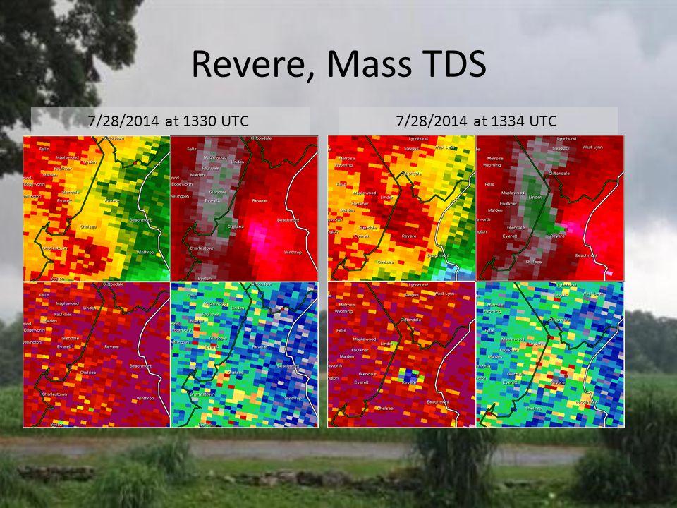 Revere, Mass TDS 7/28/2014 at 1334 UTC 7/28/2014 at 1330 UTC