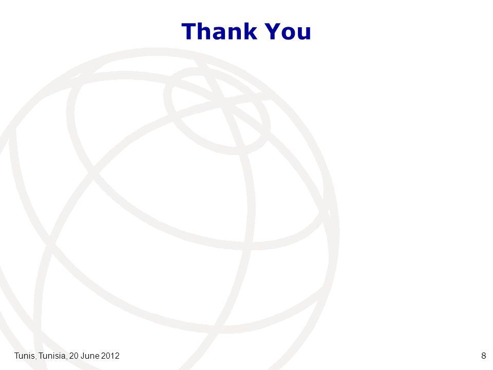 Thank You Tunis, Tunisia, 20 June 20128