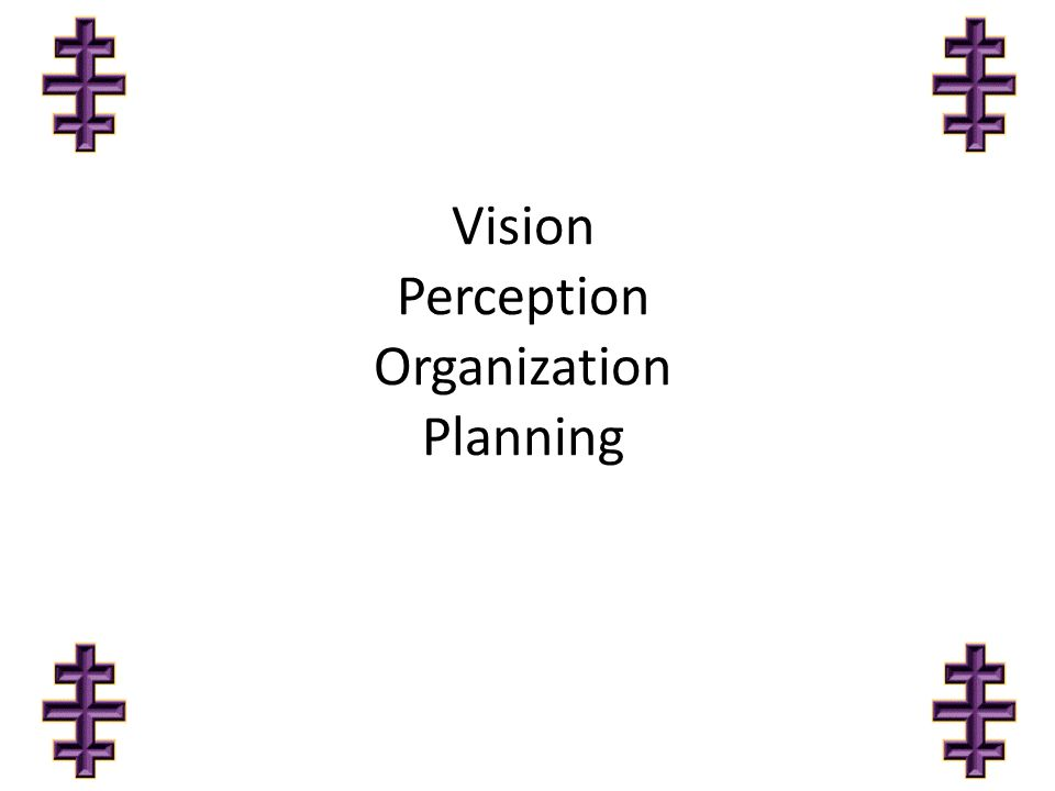 Vision Perception Organization Planning