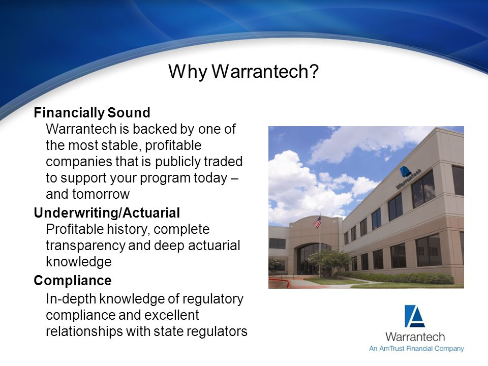 Why Warrantech .Don't Miss Your Chance To Be Part Of This Exciting Program.
