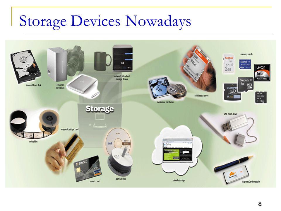 8 Storage Devices Nowadays