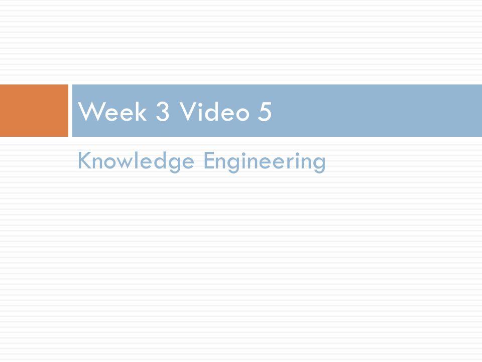 Knowledge Engineering Week 3 Video 5