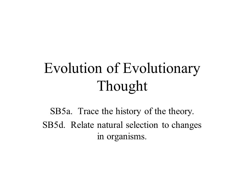 Jean Baptiste Lamarck (1744-1829) Theory of evolution in 1809 (before Darwin) Two Ideas about Evolution: –Use & Disuse- if you don't use a part, you lose it.