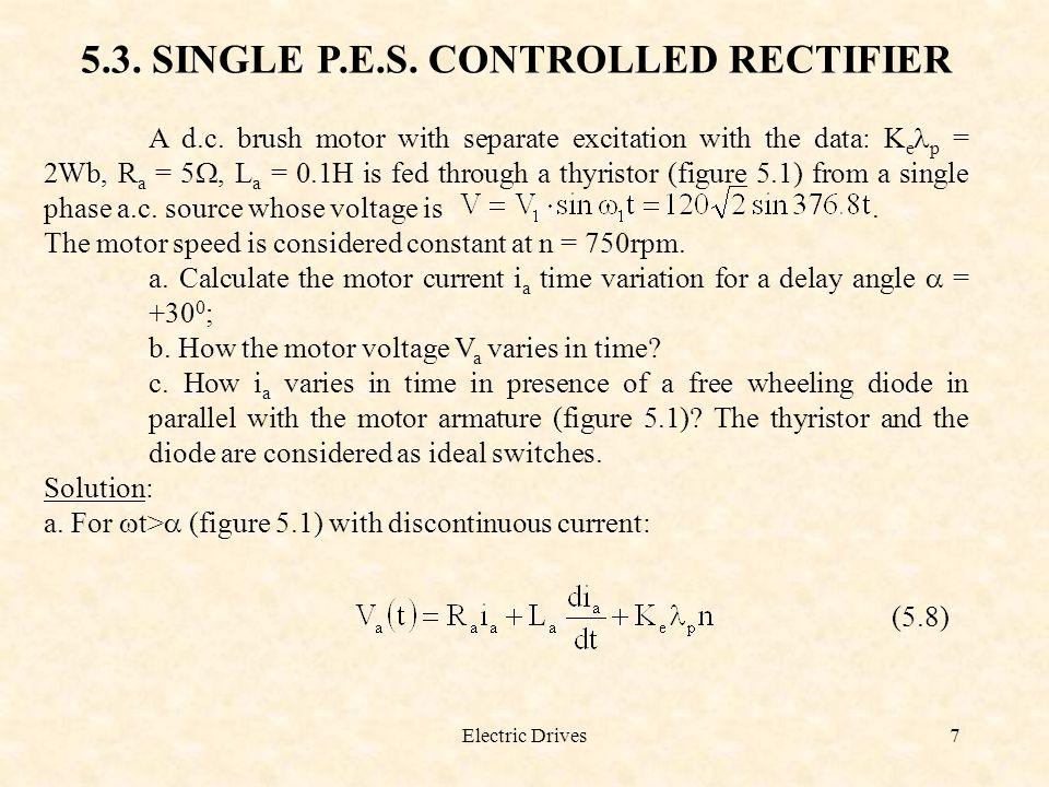 Electric Drives8 Figure 5.1.A d.c.