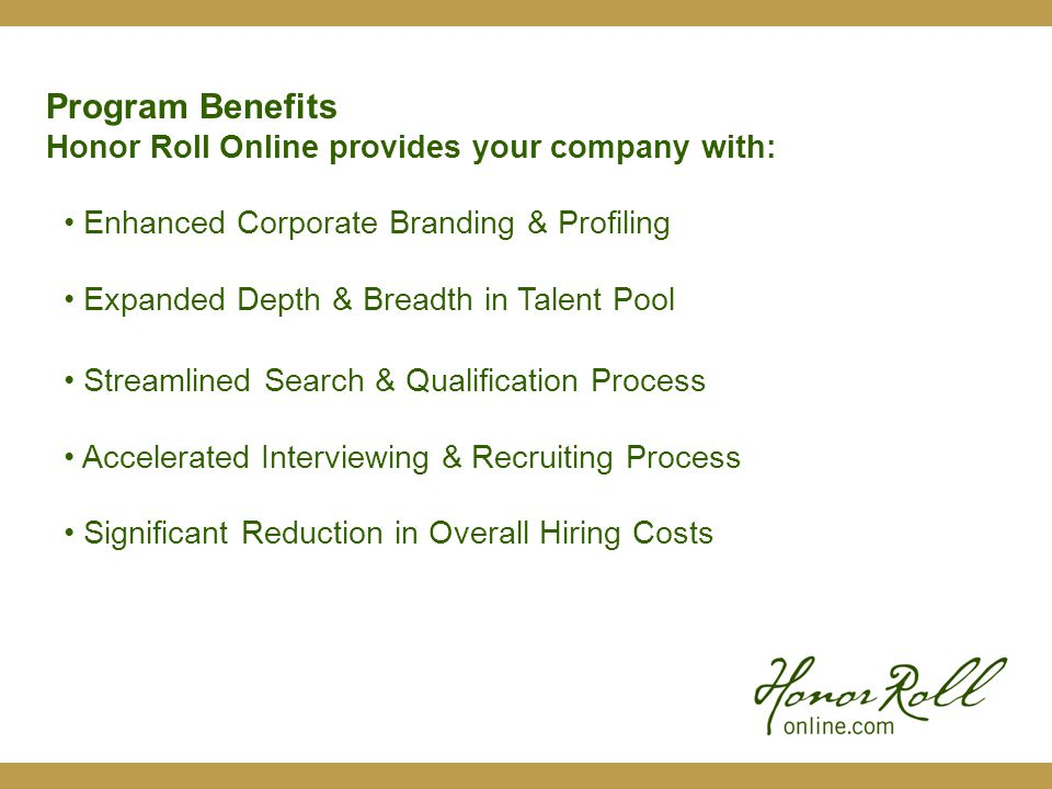 Features Candidate Data Appears On One Comprehensive Profile Page and Can Include: School Name / Location Hometown Region Degree Classification Major Discipline Minor Disciplines Credit Hours by Key Subject Cumulative GPA Major GPA SAT/ACT Scores Graduation Date Available Date Career Objectives Job Classification / Certification Relocation Preferences Tab Links to Resume, Reference Request, Interview Request and Candidate Email Candidate Details Page