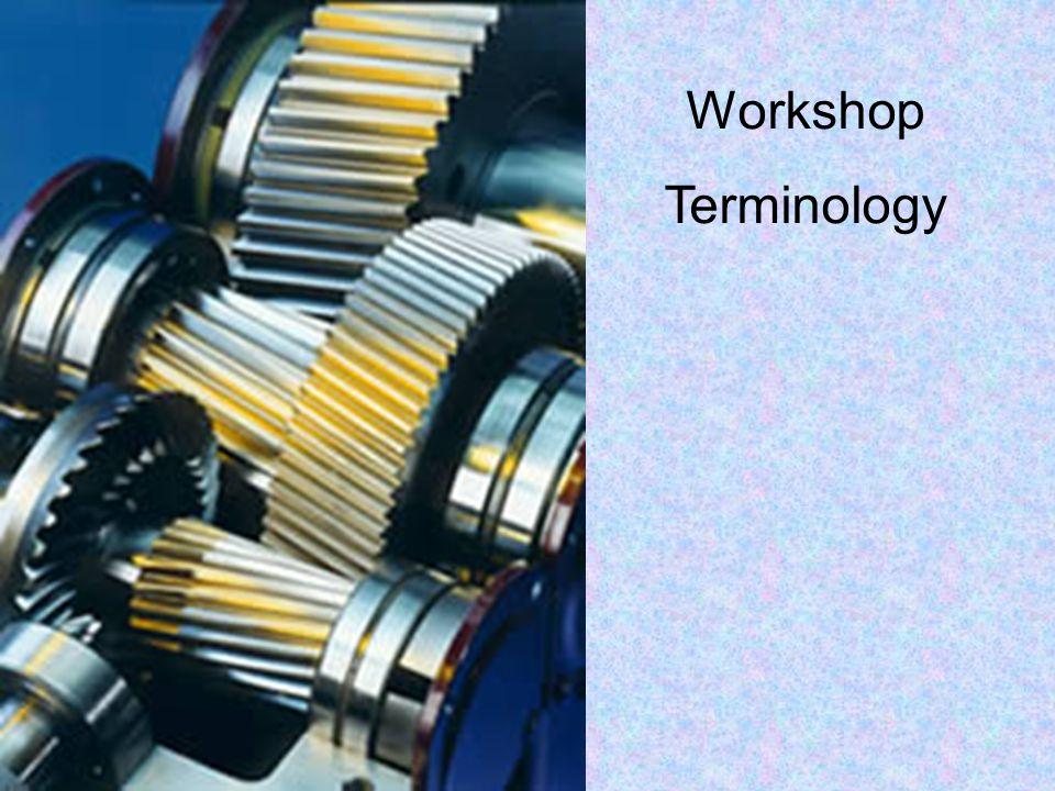 Workshop Terminology