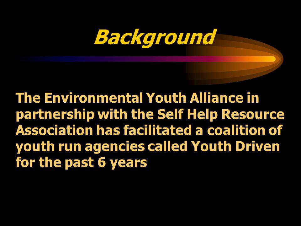 Youth Driven Community Involvement Doug Ragan Environmental Youth Alliance Nadim Kara Self Help Resource Association