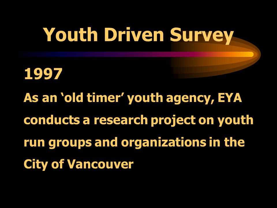 Alternative Approaches What does it take for youth to self organize for social change