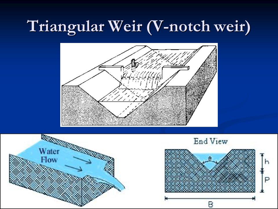 Triangular Weir (V-notch weir)