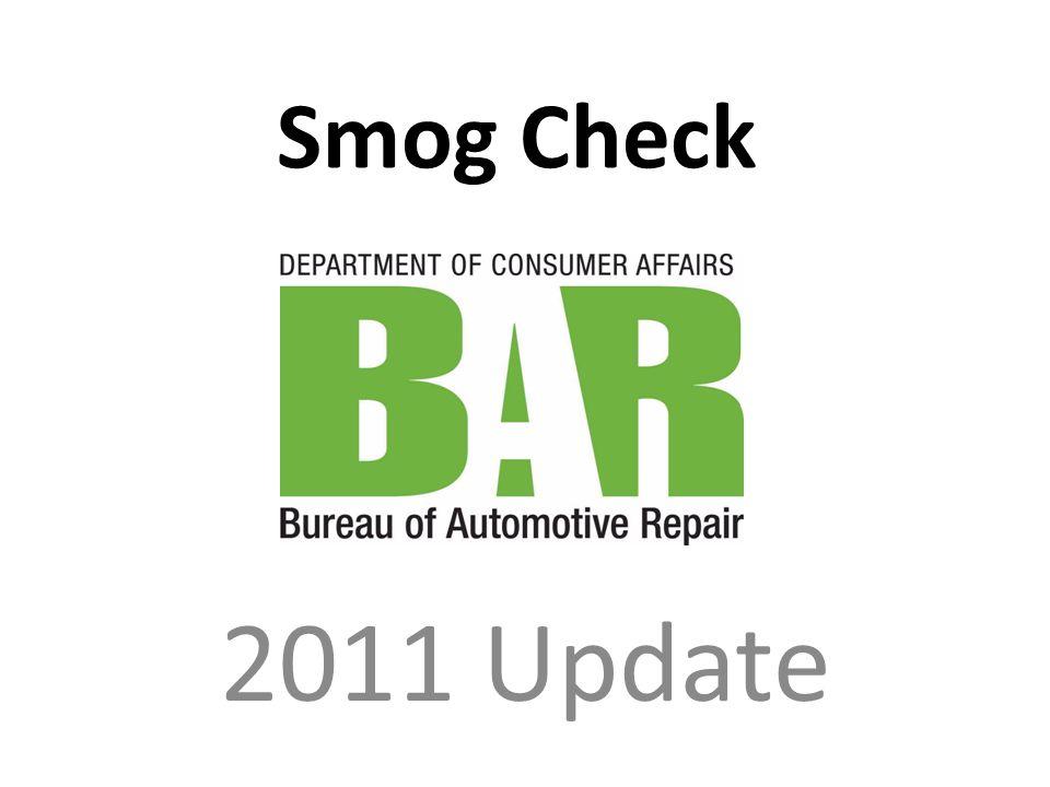 Smog Check 2011 Update