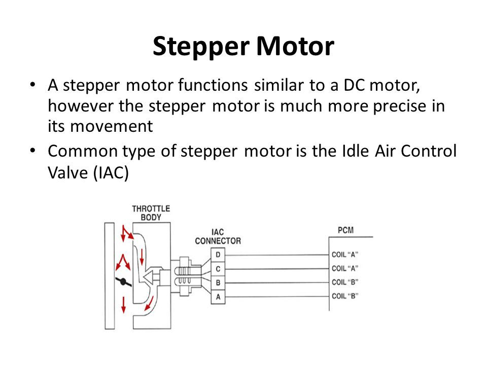 Stepper Motor A stepper motor functions similar to a DC motor, however the stepper motor is much more precise in its movement Common type of stepper m