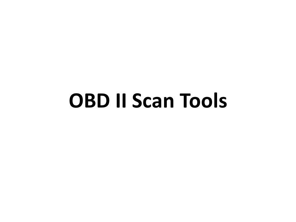 OBD II Scan Tools