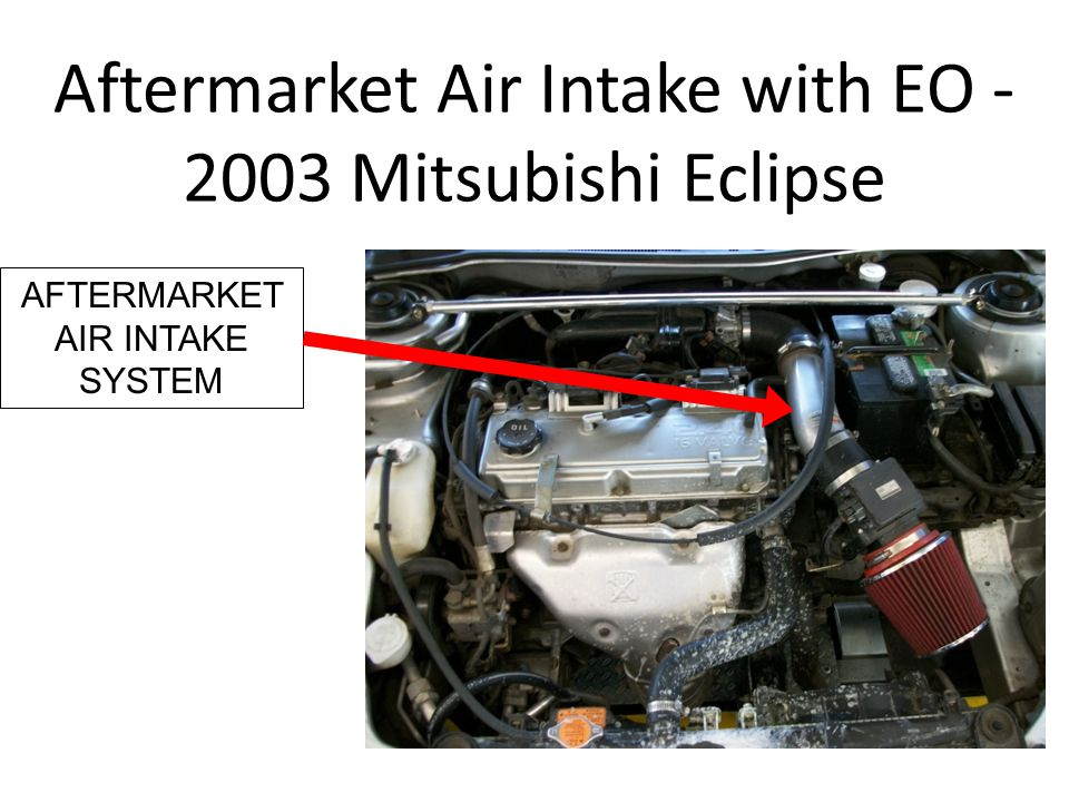 Aftermarket Air Intake with EO - 2003 Mitsubishi Eclipse AFTERMARKET AIR INTAKE SYSTEM