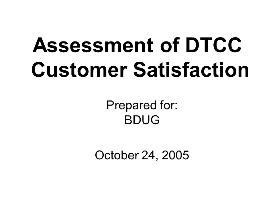Product Satisfaction Some scored lower Traditional Products/Services2005 Underwriting Services 62% Tax Services 62 Non-Cede & Co.