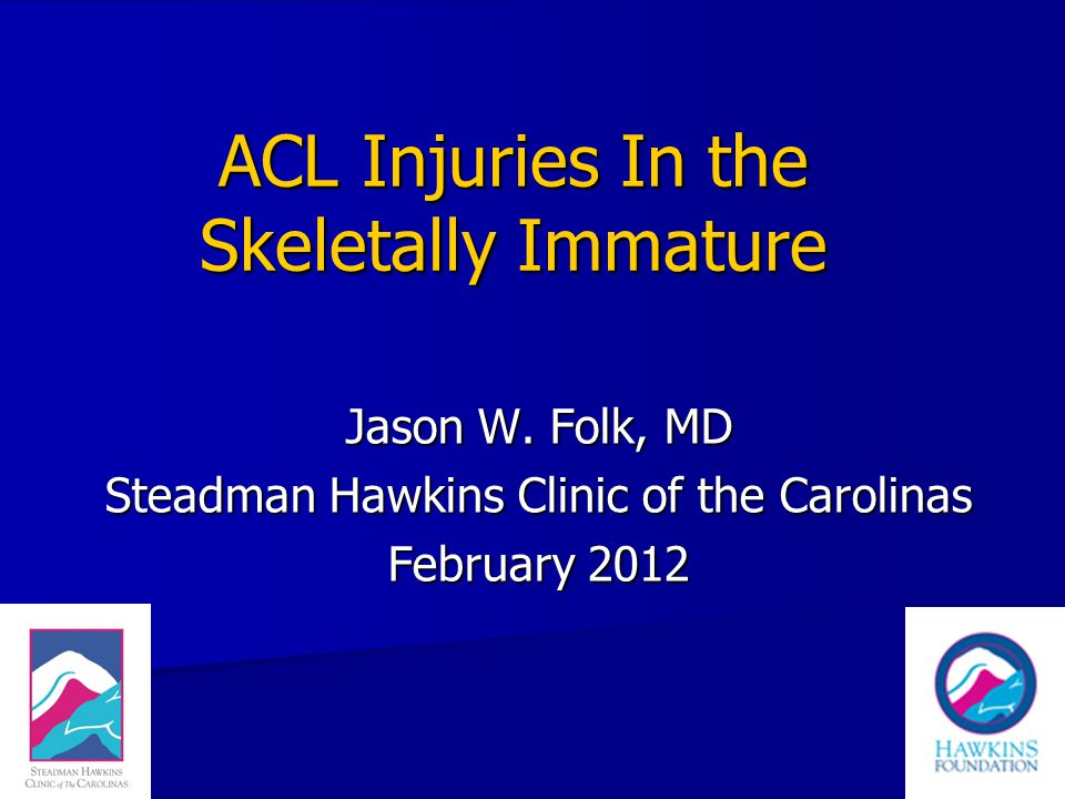 Non-op ACL Open Physis 18 pts ACL injury open physis 18 pts ACL injury open physis Only one returned to preinjury level of sports Only one returned to preinjury level of sports Initial scope 13 meniscal tears Initial scope 13 meniscal tears Later secondary meniscal tears in 9 Later secondary meniscal tears in 9 Degen changes 11 of 18 pts by Xray Degen changes 11 of 18 pts by Xray Mizuta et al., JBJS Br 1995