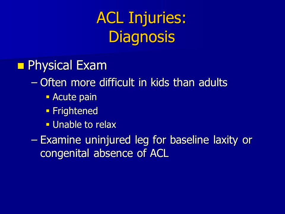 ACL Injury: Transphyseal