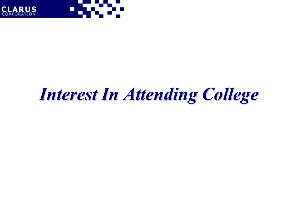 Interest In Attending College