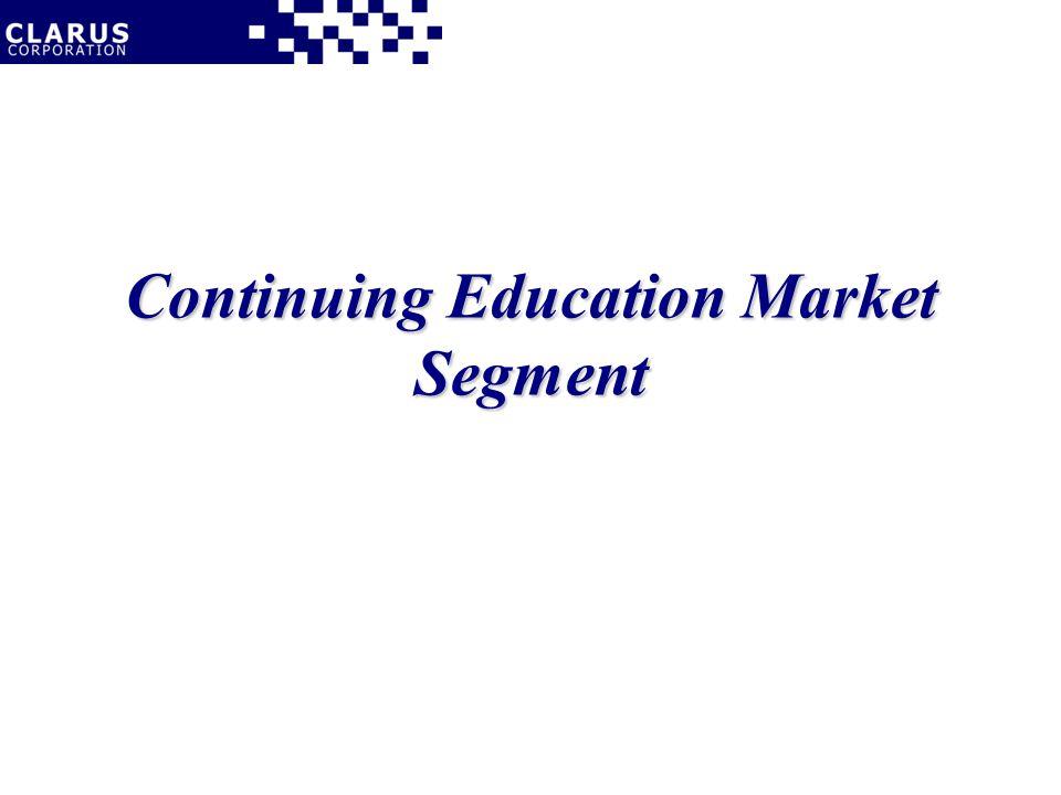 Continuing Education Market Segment
