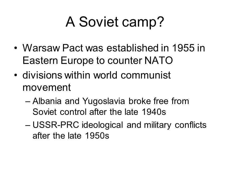 A Soviet camp.