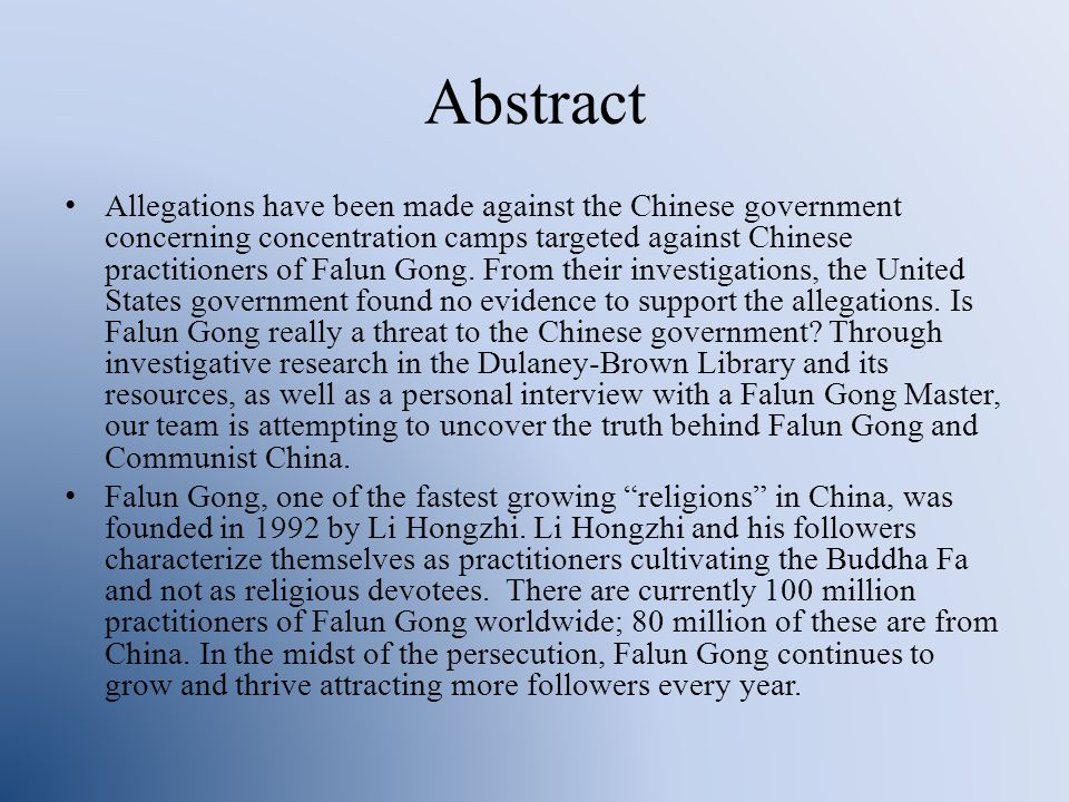 Falun Gong vs Communist China Jason Blakeburn, Destry Elms, Alexander Gang, Lauren Kolker Honor's Colloquium