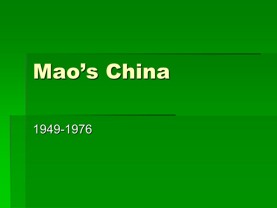 Yan'an, 1935-1948  For over a decade, Mao and the Chinese Communist leadership operated from Yan'an in the north of China.