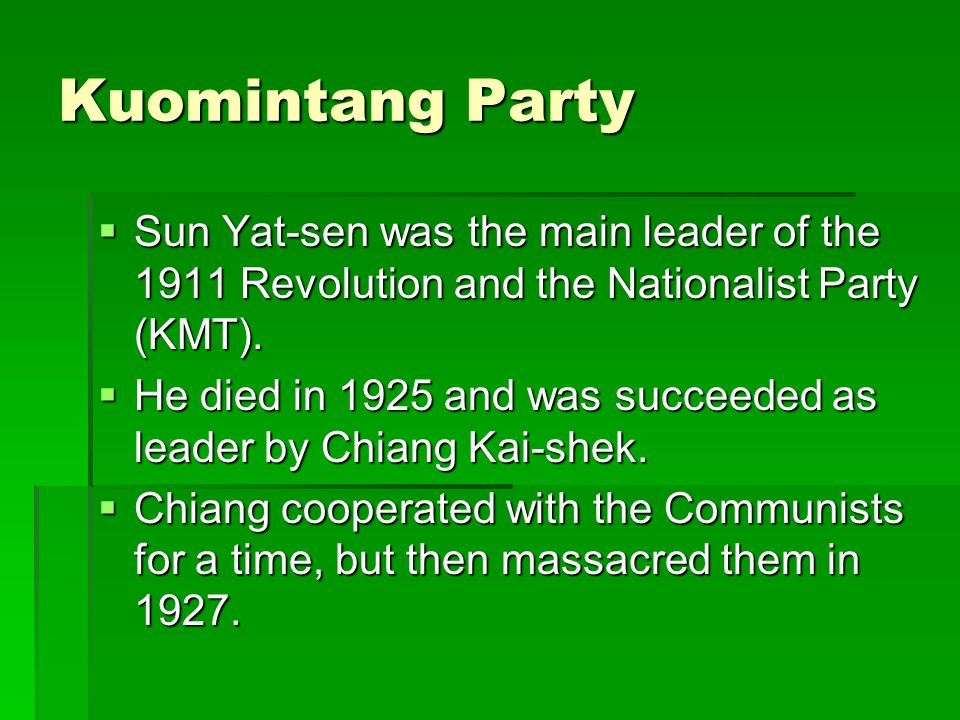 Mao Zedong's Life  Mao was born in 1896 as the son of an affluent peasant in Hunan province.