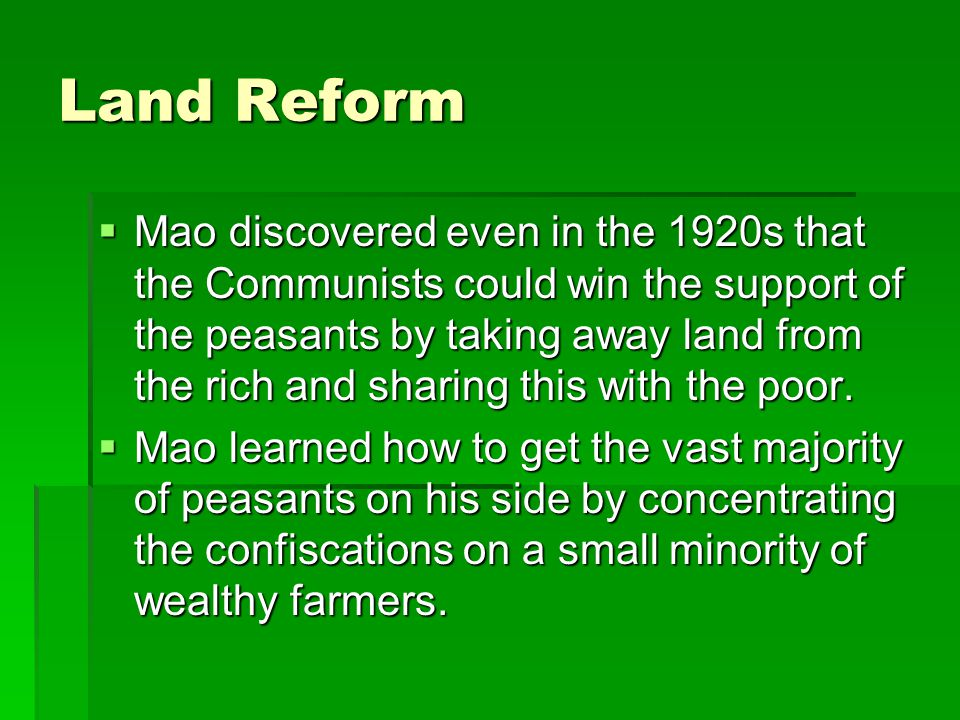 After Mao  From 1975 to 1997, China was led by Deng Xiaoping who welcomed economic reforms in the direction of capitalism.