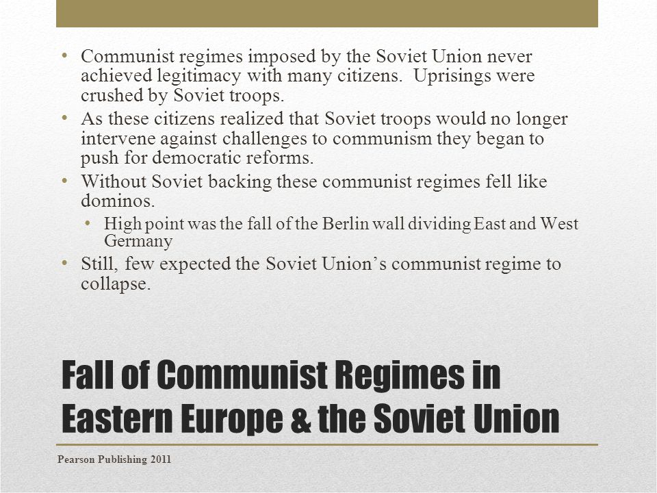 The Fall of the Soviet Union Why did the Soviet Union collapse.