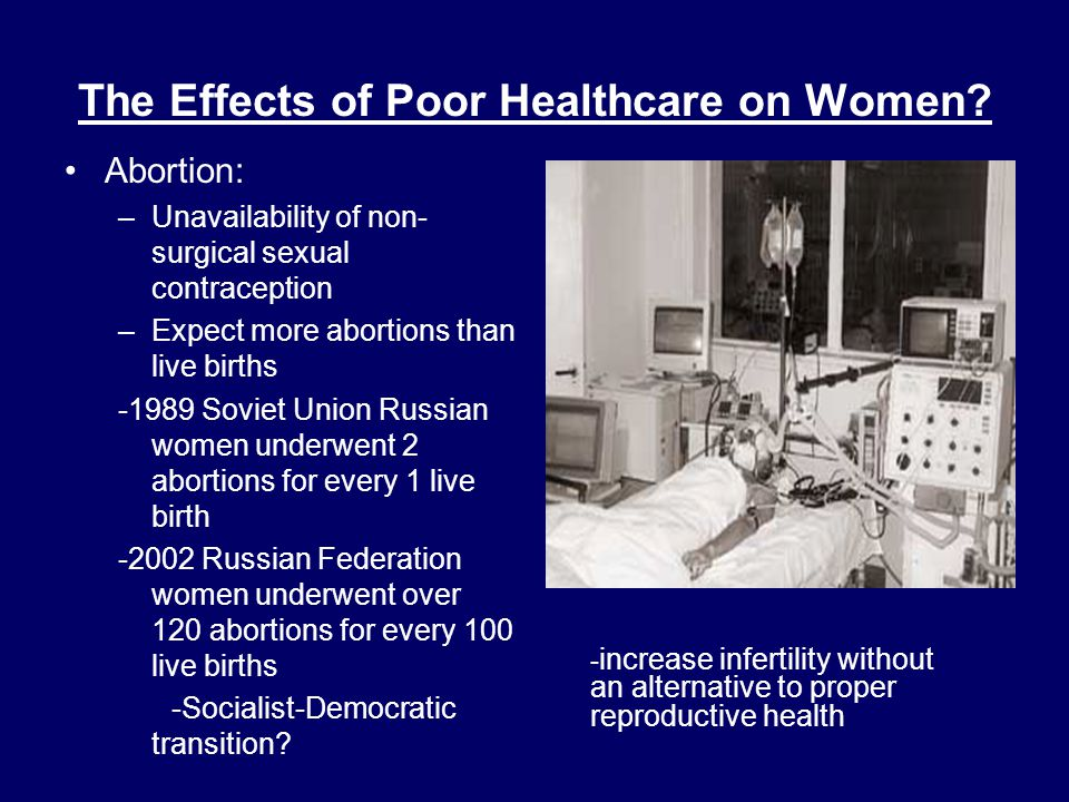 The Effects of Poor Healthcare on Women.