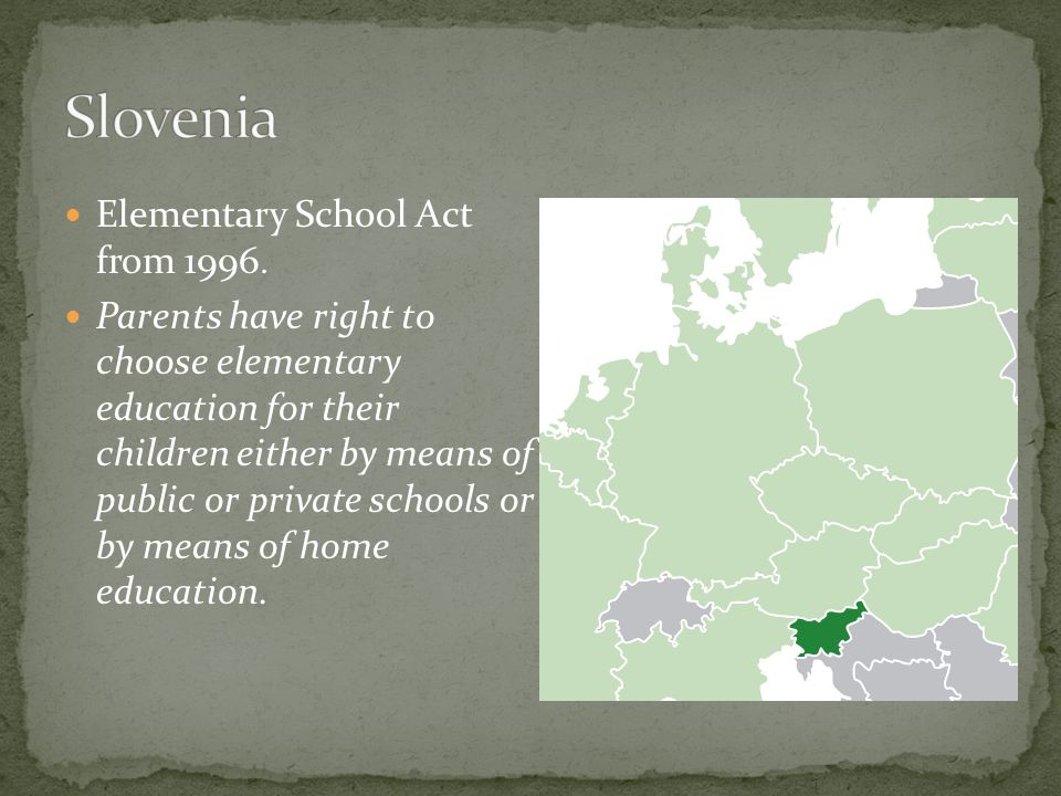 Elementary School Act from 1996.
