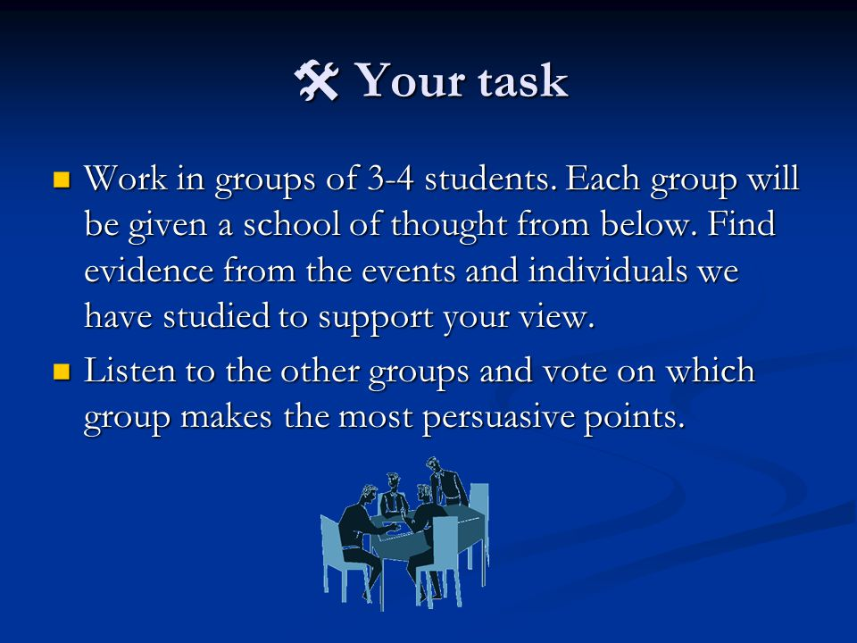  Your task Work in groups of 3-4 students.