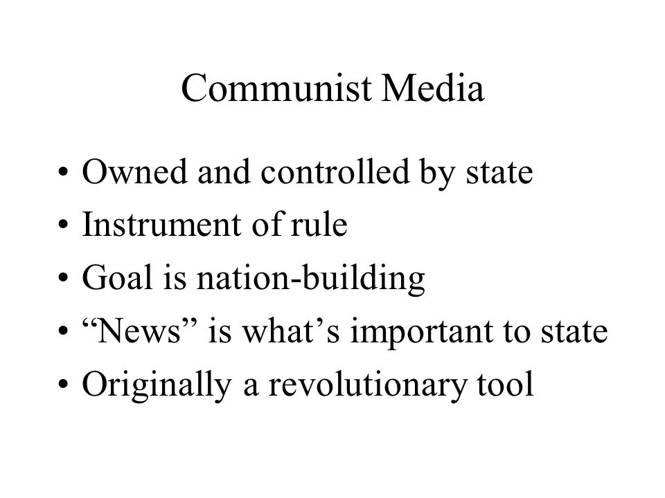 Lenin on communist media …free press gives freedom to oppress, deceive and exploit the masses…