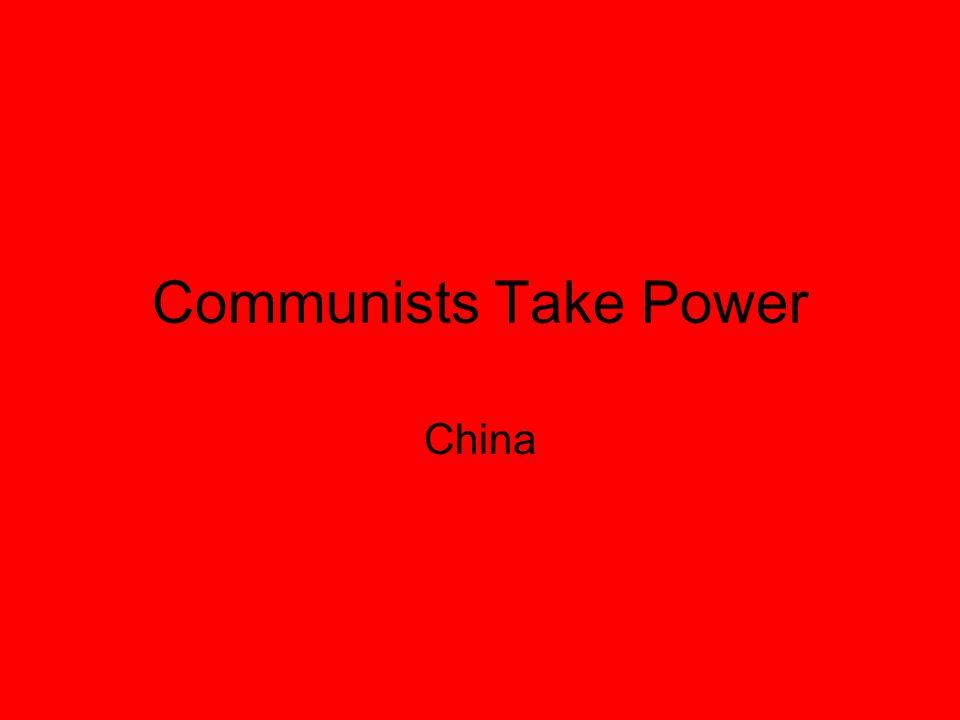 Communists Take Power China
