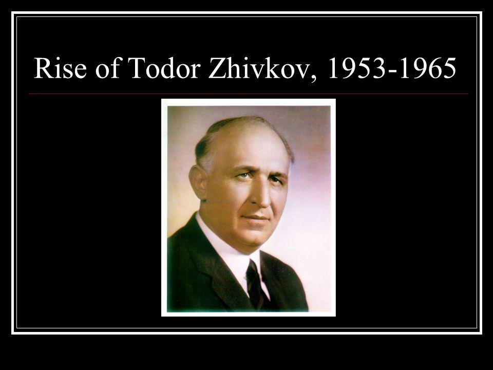 Rise of Todor Zhivkov, 1953-1965