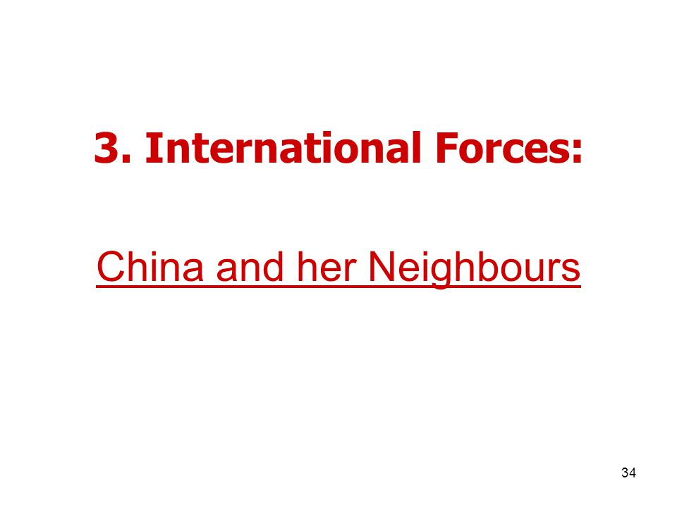 34 3. International Forces: China and her Neighbours