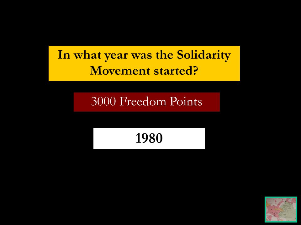 3000 Freedom Points In what year was the Solidarity Movement started 1980