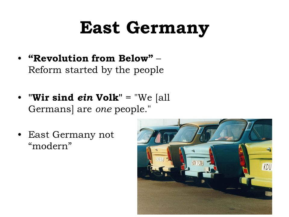 "East Germany ""Revolution from Below"" – Reform started by the people"