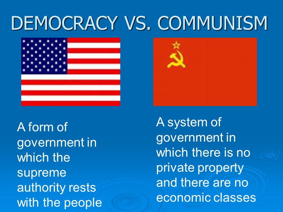 DEMOCRACY VS.