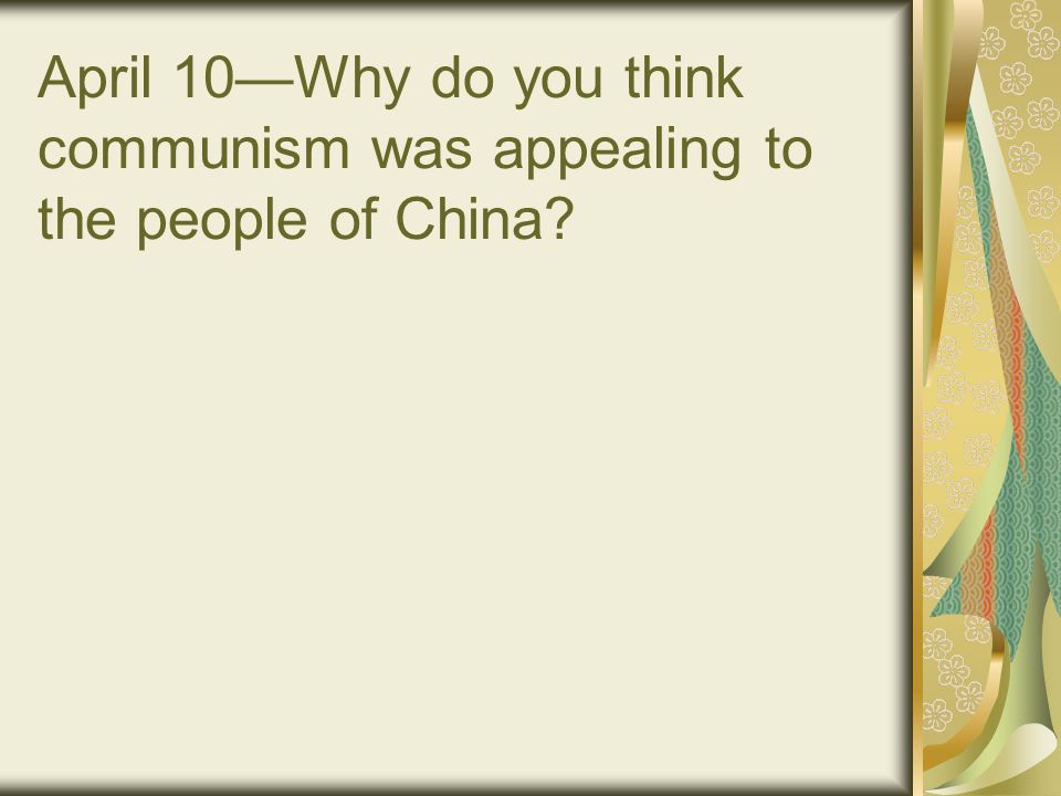 The Long March Once there Mao built up his forces and won the support of the local peasants by redistributing farm land.